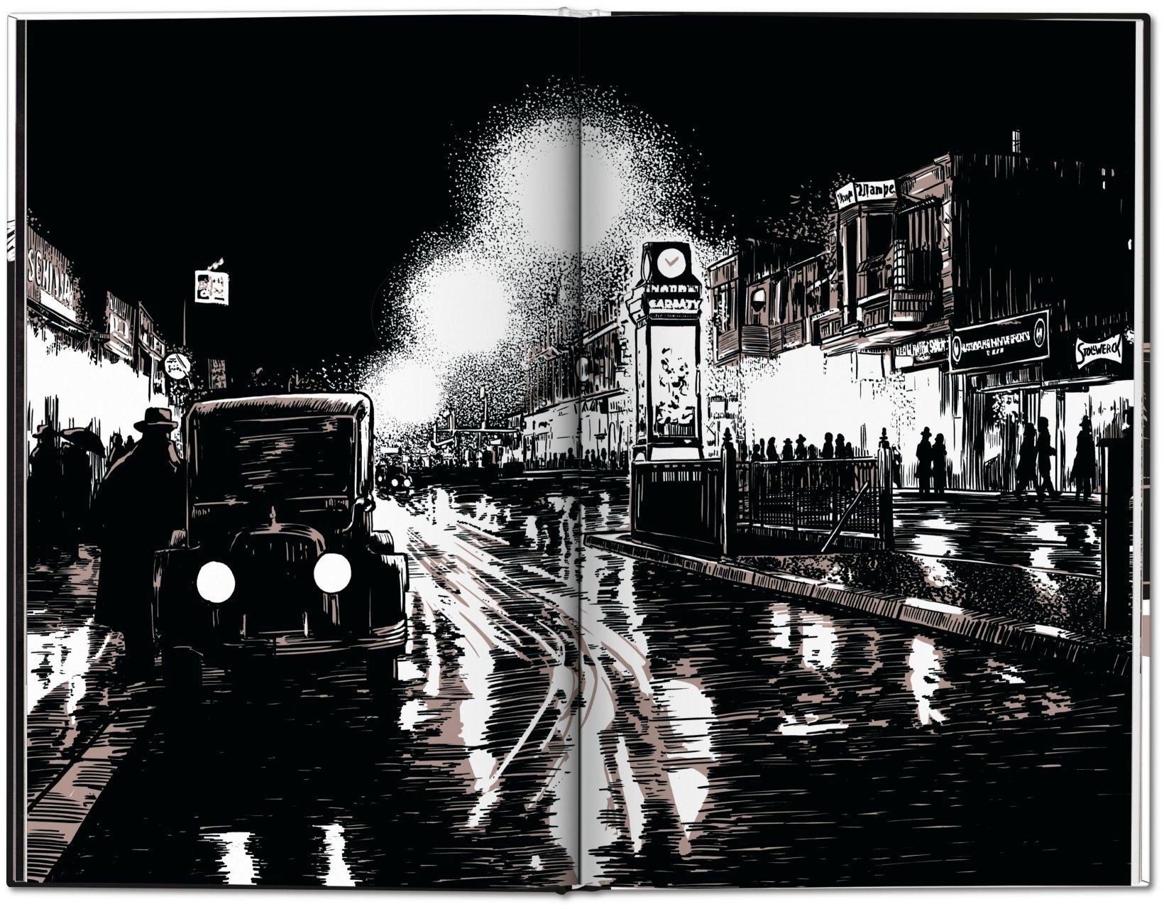 """""""Night Falls on the Berlin of the Roaring Twenties"""" - imagine noaptea cu o mașină"""