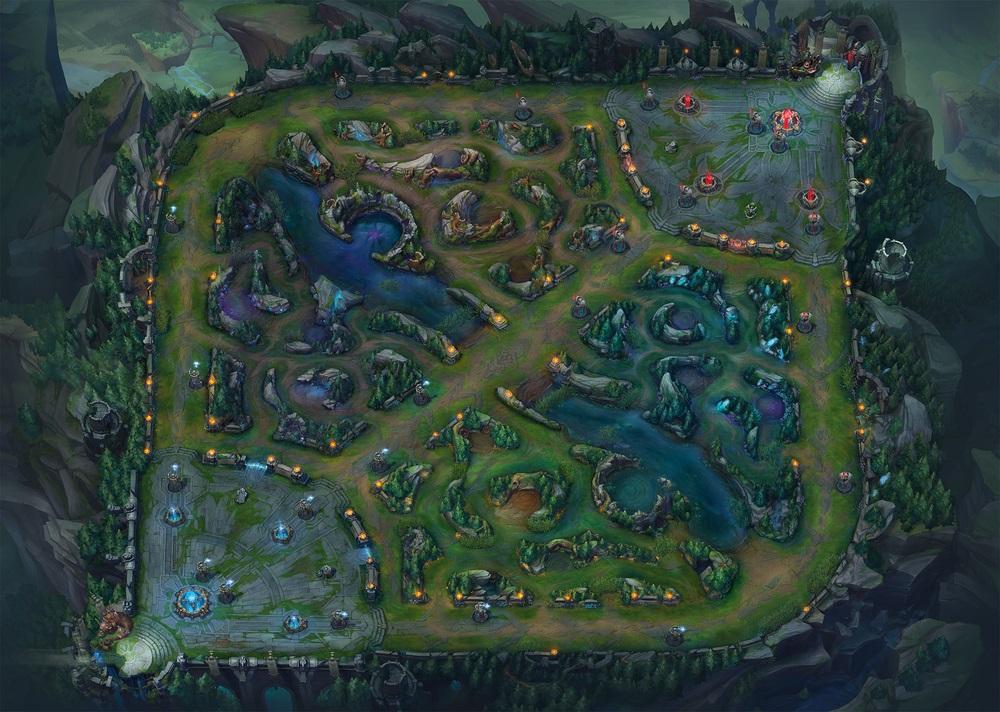 """Harta """"Riftul Invocatorului"""" din League of Legends"""